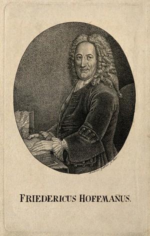 view Friedrich Hoffmann II. Stipple engraving by A. Gabler after A. Pesne.
