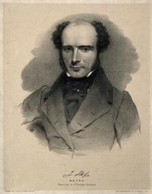 view James Hope. Lithograph by T. Bridgford.