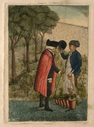 view John Hope. Coloured etching by J. Kay, 1786.