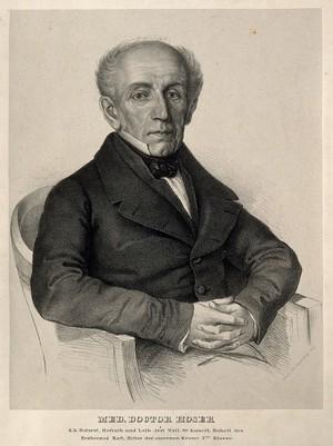 view Joseph Karl Eduard Hoser. Lithograph by F. Schier, 1848.