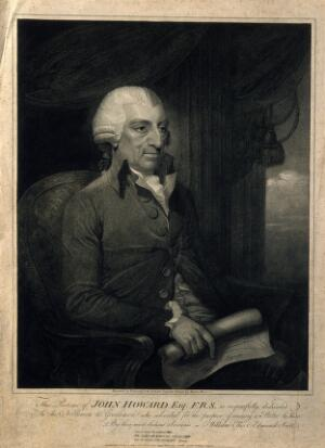 view John Howard. Stipple engraving by E. Scott, 1789, after M. Brown.