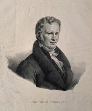 view Friedrich Heinrich Alexander von Humboldt. Lithograph, 1824, after Baron C. von Steuben, 1815.