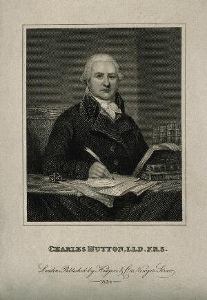 view Charles Hutton. Stipple engraving, 1824, after H. Ashby.