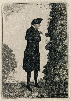 view James Hutton. Etching by J. Kay, 1787.