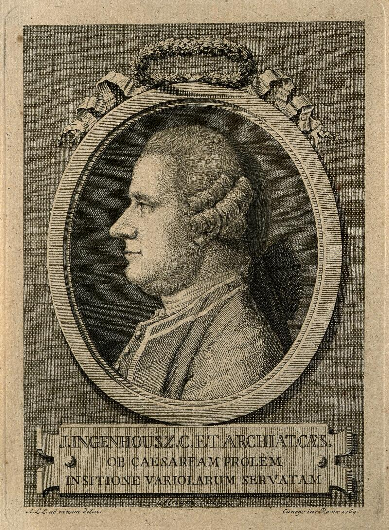 Jan Ingenhousz U >> Jan Ingenhousz Line Engraving By D Cunego 1769 After A L L