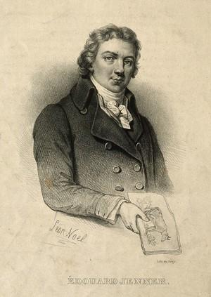view Edward Jenner. Lithograph by L. Noël after P. R. Vignéron after J. R. Smith, 1800.