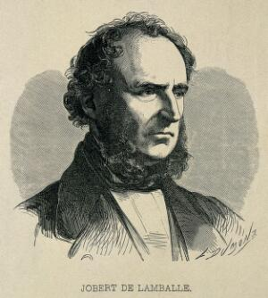 view Antoine Joseph Jobert de Lamballe. Wood engraving by L. Dumont.