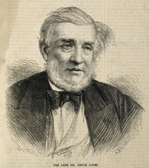 view Henry Bence Jones. Wood engraving by R. & E. Taylor, 1873, after [S. T.].