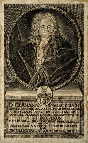 view Hermann Paul Juch. Line engraving by G.H. Werner.