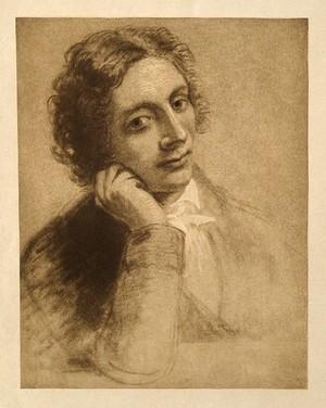 view John Keats. Photogravure after J. Severn.