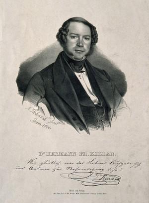 view Hermann Friedrich Kilian. Lithograph by A. Hohneck, 1844.