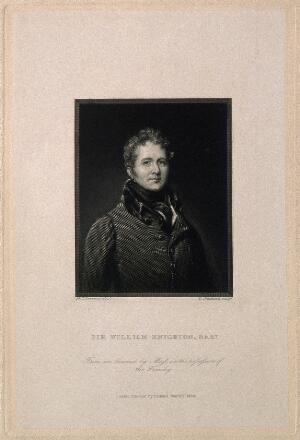 view Sir William Knighton. Line engraving by W. Greatbach, 1838, after Sir T. Lawrence.