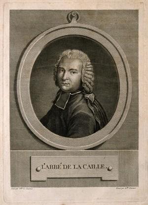 view Nicolas Louis de La Caille. Line engraving by Thérèse Devaux after Mlle Le Jeuneux.