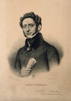 view Jean Jacques Joseph Leroy d'Etiolles. Lithograph by Z. Belliard after L. Viardot.