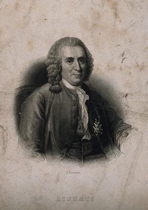 view Carolus Linnaeus. Stipple engraving by S. Freeman after Hollmann.