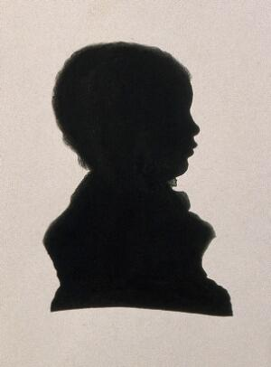 view Joseph Lister, 1st Baron Lister. Ink silhouette by J. J. Lister, 1830.
