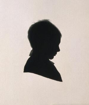 view Joseph Lister, 1st Baron Lister. Ink silhouette by J. J. Lister, 1837.