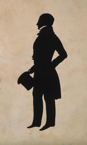 view Robert Liston. Printed silhouette.