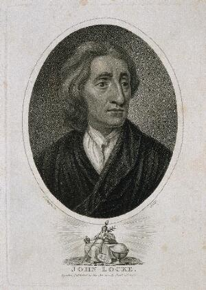 view John Locke. Stipple engraving by J. Chapman, 1811, after Sir G. Kneller, 1697.