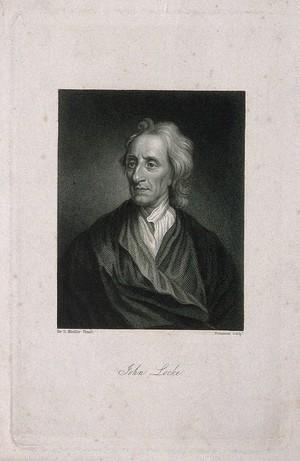 view John Locke. Stipple engraving by S. Freeman after Sir G. Kneller, 1697.