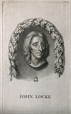 view John Locke. Stipple engraving by G. B. Cipriani, 1765, after J. M. Rysbrack [?].