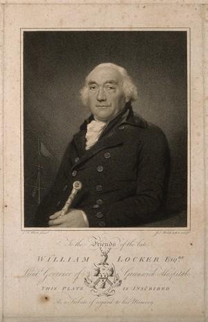 view William Locker. Stipple engraving by J. Heath after L. F. Abbott.