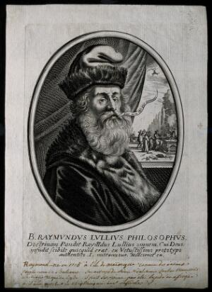 view Ramón Lull [Lully]. Line engraving.