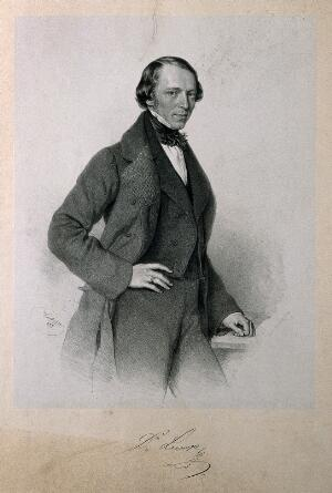 view Eduard Lumpe. Lithograph by F. Kriehuber, 1855.