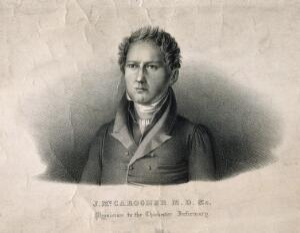 view Joseph McCarogher. Lithograph by F. Pistrucci.