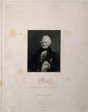 view Sir James McGrigor. Stipple engraving by J. Holl, 1839, after H. Room.