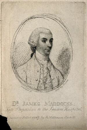view James Maddocks. Etching by T. Trotter, 1787, after J. Caldwall.