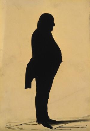 view John Mansell. Cut-paper silhouette, 1801.