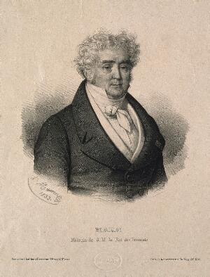 view Charles Chrétien Henri Marc. Lithograph by A. Maurin, 1833.