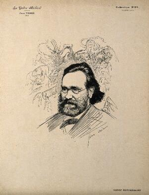 view Elie Metchnikoff. Reproduction of drawing by J. Veber.