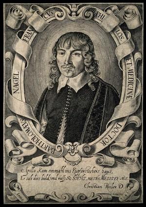 view Bartholomaeus Nagel. Line engraving by G. Georgi, 1646.