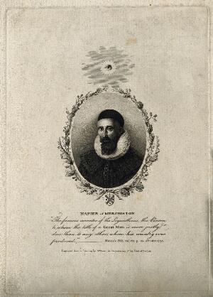 view John Napier. Stipple engraving by J. Beugo after Brown.