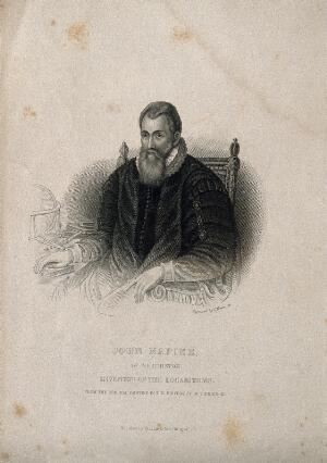 view John Napier. Stipple engraving by S. Freeman.