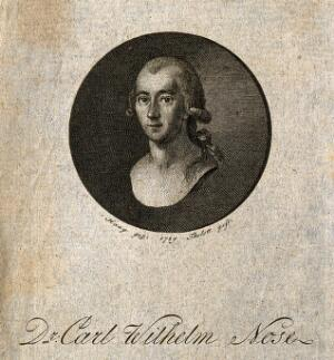view Carl Wilhelm Nose. Stipple engraving by E.K.G. Thelott after Haug, 1789.