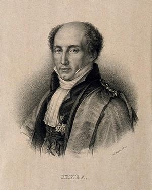 view Pierre Matthieu Joseph Bonaventure Orfila. Lithograph.