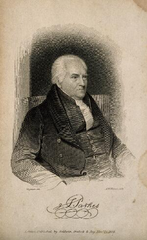 view Samuel Parkes. Line engraving by A. W. Warren, 1826, after T. Wageman.