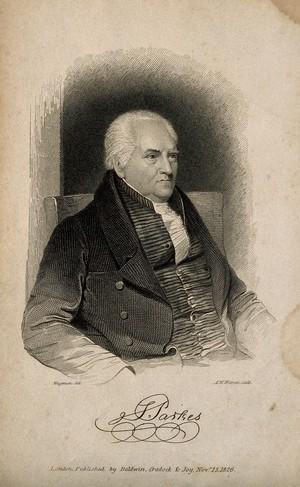 view Samuel Parkes. Line engraving by A. W. Warren, 1826, after T. Wageman.