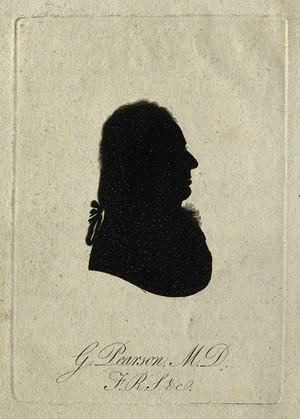 view George Pearson. Aquatint silhouette, 1801.