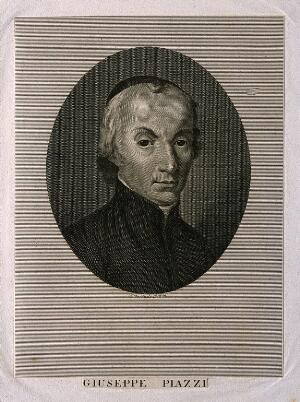 view Giuseppe Piazzi. Line engraving.
