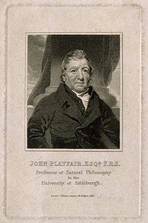 view John Playfair. Stipple engraving after H. Raeburn.