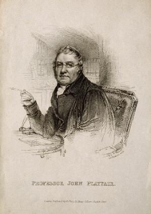 view John Playfair. Stipple engraving by J. Thomson, 1819.