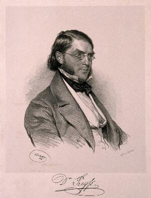 view Georg Preyss. Lithograph by J. Kriehuber, 1846.