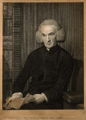 view Richard Price. Line engraving by T. Holloway after B. West.