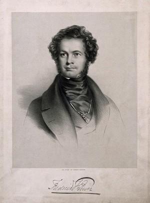 view Frederick Foster Quin. Lithograph by E. Morton.