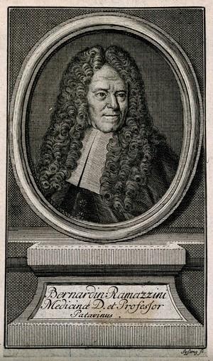 view Bernardino Ramazzini. Engraving by J. C. Sysang.