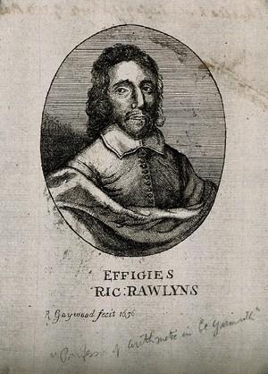 view Richard Rawlyns. Etching by R. Gaywood, 1656.